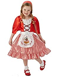 Girls Little Red Riding Hood Fairy Tale Book Week Day Fancy Dress Costume Outfit 5-10