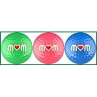 Mom w/ Heart in Multi Color Golf Ball Gift Set by EnjoyLife Inc