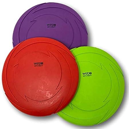 WEPO Hundespielzeug Set – 3 Stück – Hundefrisbee Schwimmend Ø 18cm – Dog-Frisbee – Wurfspielzeug Hunde (3 Stück)