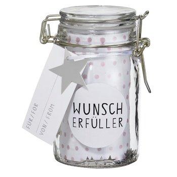 Räder HERZSTÜCKE Geschenkglas Wunsch -erfüller H:12cm, dia:6cm