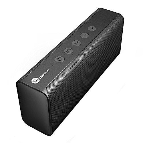 TaoTronics Speaker Stereo Altoparlante Bluetooth 14W con Bassi Potenti, A2DP, Microfono Integrato, 2 Driver Acustici, Audio ad Alta Definizione per iPhone e Smartphone Android e Tablet PC, Nero