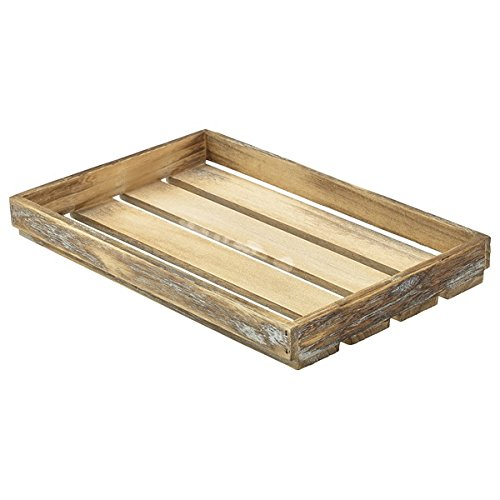 Genware NEV-TR225L - Cesta de madera