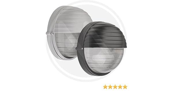 Plafoniera Da Esterno Palpebra : Plafoniera 25x15 lampada da giardino tonda maxi palpebra nera