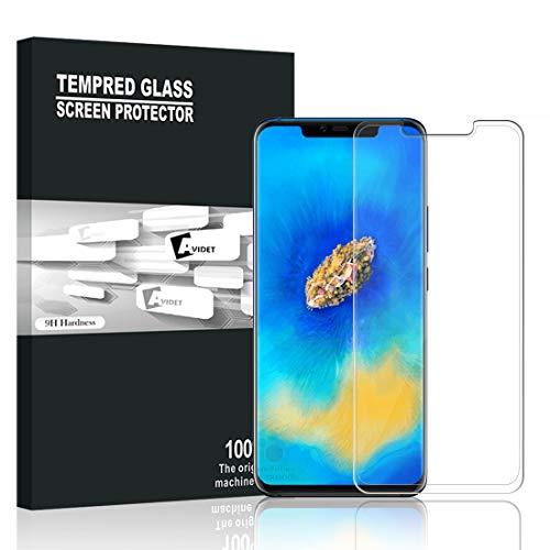 Vidro temperado Huawei Companheiro 20 PRO, AVIDET 3D completar a cobertura película protetora de Alta Definição, dureza 9H, anti-risco para a Huawei Companheiro 20 PRO (o protetor de tela transparente)