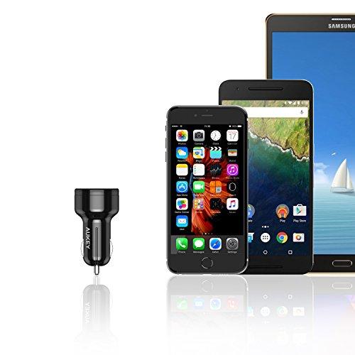 41dI5yVxgcL - [Amazon.de] AUKEY Quick Charge 3.0 Kfz Ladegerät 24W für iPhone/iPad nur 4,99€ statt 11,99€ *PRIME*