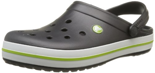 crocs Unisex-Erwachsene Crocband Clogs Schwarz (Onyx/Volt Green)
