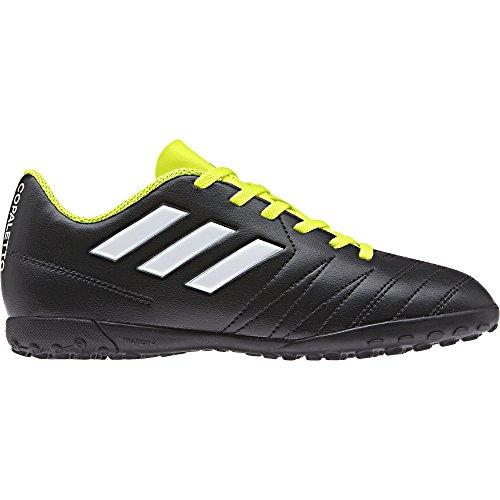 adidas Unisex-Kinder Copaletto TF J Fußballschuhe, Schwarz (Schwarz/Weiß/Gelb 000), 35 EU