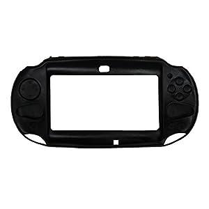 OSTENT Schützende Silikon-Soft Case Cover Tasche Haut kompatibel für Sony PS Vita PSV PCH-2000 – Farbe Schwarz