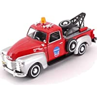 cararama red/silver grey C3100 pickup tow truck 1:43 scale diecast model