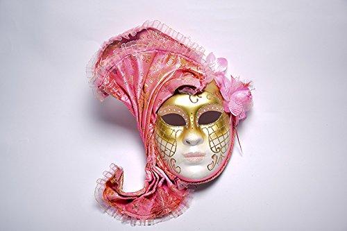 K&C Venice Halloween Costume Masquerade Masks Pink