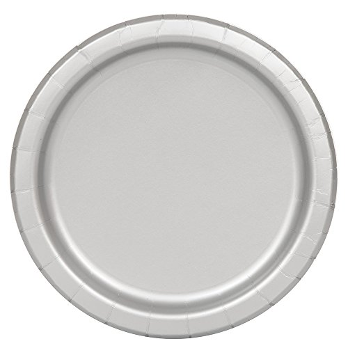 23cm-silver-party-plates-pack-of-16