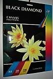 20 Black Diamond schweres doppelseitig Hi-Eintragungsstellen A4 220gsm Light Canvas Druckerpapier für Tintenstrahldrucker Effekt weiß (nicht 100% Baumwolle)