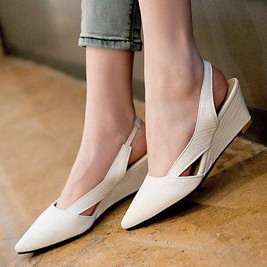 LvYuan Damen-Sandalen-Kleid-Kunstleder-Keilabsatz-Andere-Schwarz Rot Weiß Black