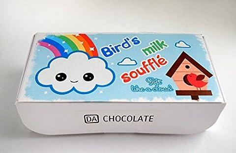 DA SCHOKOLADEN Geburtstag Gag Geschenk Vögel Milch Schokolade überzogen Vanille Marshmallow Süßigkeiten Taube Milch Souvenir 16.5x8x4.5cm Box (Vögel Milch)