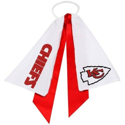 kansas-city-chiefs-ponytail-holder-hair-tie-ribbon-by-littlearth