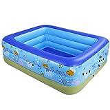 Vasca da bagno, piscine oversize per bambini a pedale Pompa piscina gonfiabile Home Guadagnare famiglia del bambino piscina per bambini ispessimento giocare a biliardo blu Vasche idromassaggio -130cm
