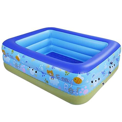 Badewanne, Pools übergroße elektrische Pumpe aufblasbarer Swimmingpool Haushalts Adult Baby Family Pool Kindverdickungder Kinderspiel Pool Blau Badewannen -260 cm Tub