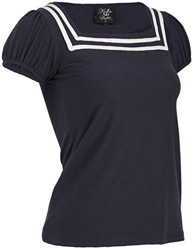 Küstenluder ELADIA Sailor Basic Nautical Vintage Oberteil Shirt Rockabilly -