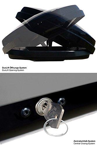 Kamei Dachbox Oyster 450 schwarz-metallic - 7