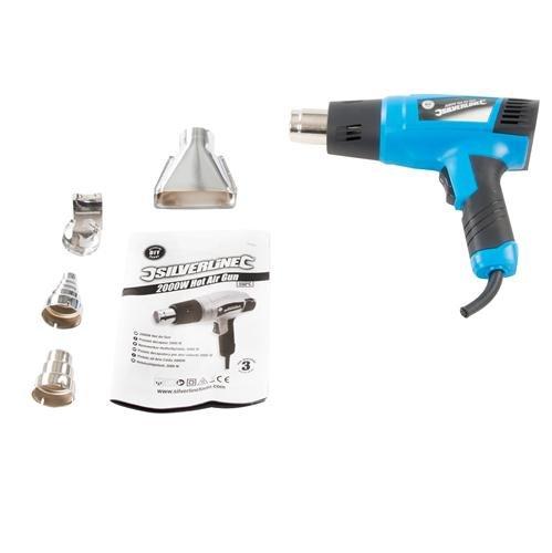 Silverline 127655 - Pistola decapadora por aire caliente 2000 W (550º C)