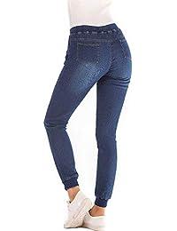 Cinnamou mujer Pantalones Levanta Cola Elasticos Vaqueros de Mujer Leggins  Strech Push Up Mujer Pantalones jins Largo Cintura… 029f1738028a