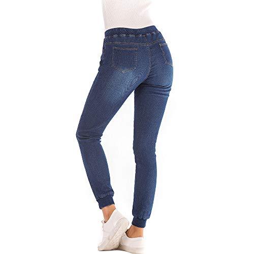 Cinnamou_mujer Pantalones Levanta Cola Elasticos Vaqueros de Mujer Leg