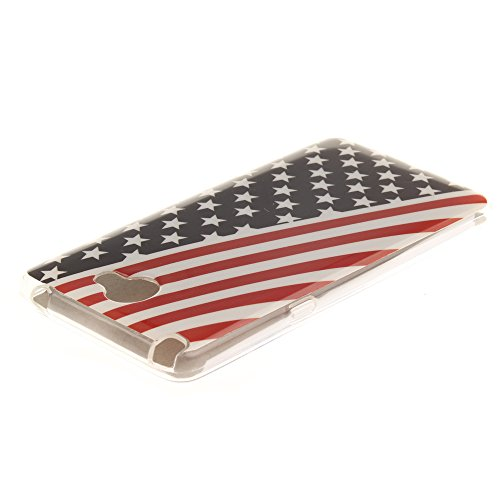 LG Bello II hülle MCHSHOP Ultra Slim Skin Gel TPU hülle weiche weiche Silicone Silikon Schutzhülle Case für LG Bello II - 1 Kostenlose Stylus (Briefpapier und Umschläge Stempel (Letter Paper and Envel Flagge der Vereinigten Staaten (Flag of the United Sta
