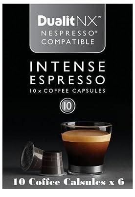 Dualit NX INTENSE Espresso Café Coffee Capsules (Pack of 60)