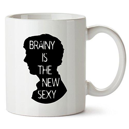 Sherlock Quote Brainy Is The New Sexy Mug Tazza