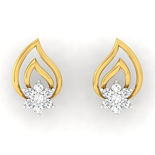 fd2478ed7 33% OFF on Pristine Fire Yellow Gold and Diamond Stud Earrings for Women