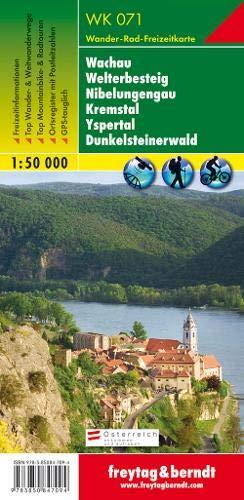Wachau - Welterbesteig - Nibelungengau - Kremstal - Yspertal - Dunkelsteinerwald, Wanderkarte 1:50.000, WK 071, freytag & berndt Wander-Rad-Freizeitkarten