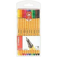 STABILO point 88 - Pochette de 10 stylos-feutres pointe fine - Coloris assortis