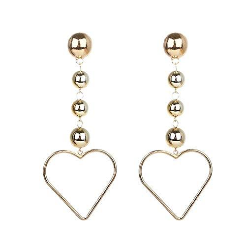 Stilvolle Liebe Herz Ohrringe Baumeln Ohrringe Ohrstecker Schmuck Zubehör für Frauen Mädchen Geburtstag Festival Party Geschenk