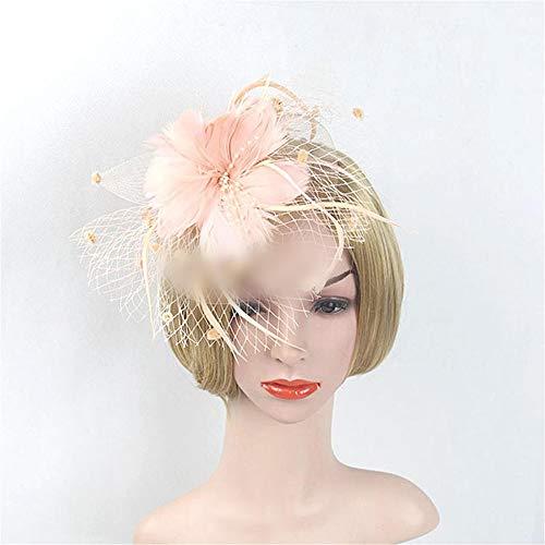 Kostüm Jockey Halloween - ZYDP Braut Kopf Blume Jockey Halloween Hut Kostüm Zubehör Kopfschmuck (Farbe : Rosa)