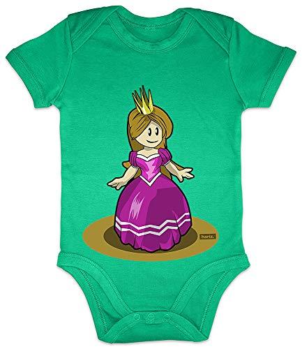 HARIZ Baby Body Kurzarm Prinzessin Tanzen Lachen Karneval Kostüm Plus Geschenkkarte Frosch Quietsch Grün 3-6 Monate