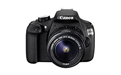 Canon EOS 1200D 18MP Digital SLR Camera (Black) with EF-S 18-55mm f/3.5-5.6 IS II Lens, 8GB Card and Carry Bag