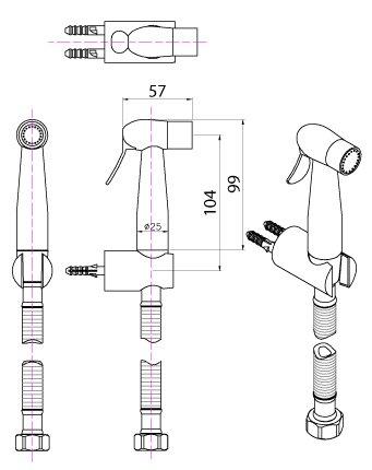 VRH Handbrause Stahl 10Jahre Garantie Modell KS