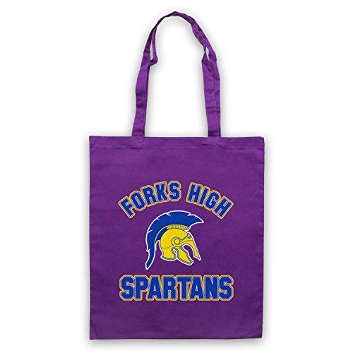 Inspiriert durch Twilight Forks High Spartans Inoffiziell Umhangetaschen Violett