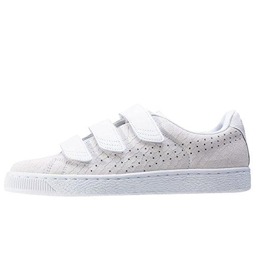 Puma Basket Strap Exotic Skin Donna Sneaker Bianco White