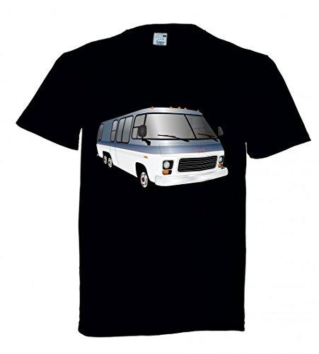 """T-Shirt """"MOBIL- HOME- FAHRZEUG- WOHNMOBIL- WOHNWAGEN- CAMPING- FAHREN- AUTO- URLAUB- BUS- REISEN- MODERN- VERKEHR- TRANSPORT- TRANSPORTER- VAN"""" in Schwarz für Herren- Damen- Kinder"""