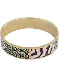 SHAZE Gold Plated Fish Eye Enamel Work Bracelet|Bracelet for Girls Bracelets for Women