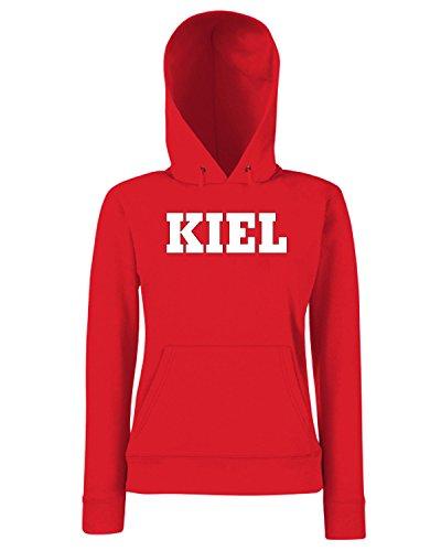 T-Shirtshock - Sweats a capuche Femme WC0809 KIEL GERMANY CITY Rouge