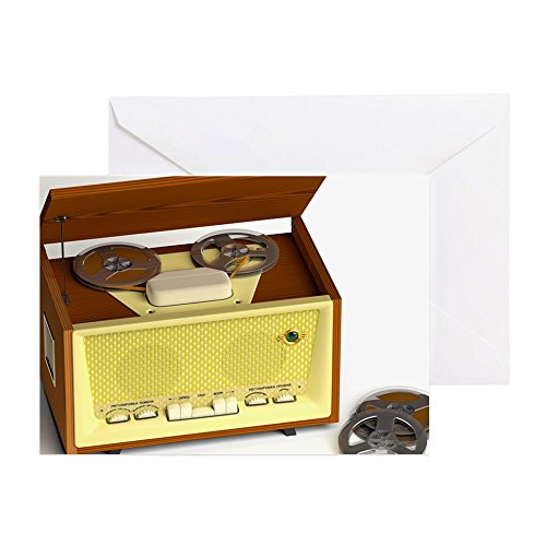 CafePress-Retro Tape Recorder-Grußkarten-Grußkarte ER (10), Note Karte mit Innen blanko,, Geburtstagskarte matt