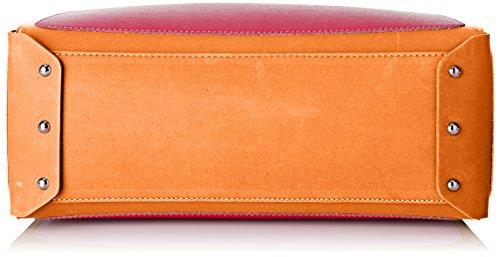 Arcadia Tobago, Borsa a Mano Donna, 14 x 29 x 46 cm (W x H x L) Arancione (Arancio/Fucsia)