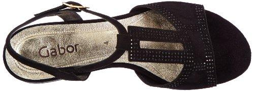 Gabor Shoes Gabor 85.841.17, Sandali Donna Nero (Schwarz (schwarz))