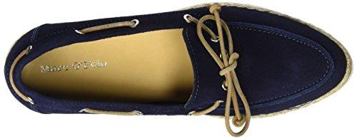 Marc O'Polo Damen 70113993601300 Boat Shoe Bootsschuhe Blau (Dark Blue)