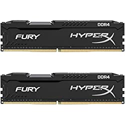 Kingston HyperX Fury Kit Memorie DDR4 da 8 GB 2400, 2x4 GB, Nero