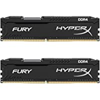Kingston HyperX Fury Kit di Memoria RAM DDR4 da 8GB, 2x4GB, Nero