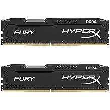 Kingston HyperX Fury Kit di Memoria 16 GB, 2x8 GB, 2133 MHz, DDR4, Non-ECC CL14 DIMM, Compatibili con Skylake, Nero/Antracite