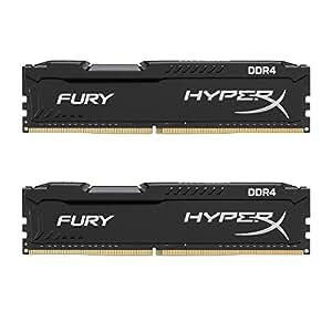 Kingston HyperX Fury Kit Memorie DDR4 da 8 GB 2400, 2x4 GB, Nero